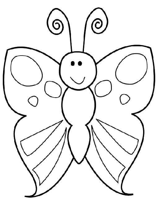 Kleurplaat Vlinder Kleurplaten Patroon Schilderij En Vlinders