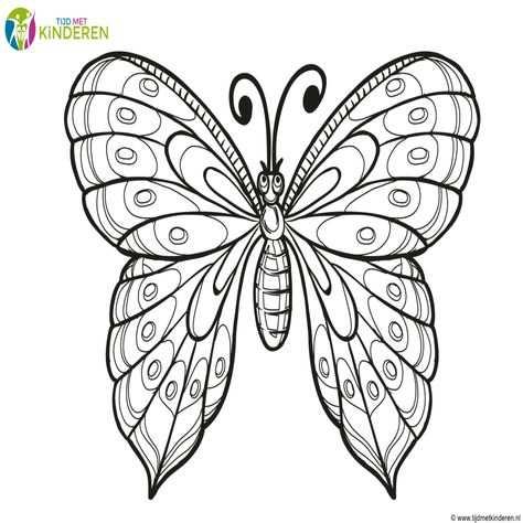 Vlinders Kleurplaat Vlinders En Bloemen In 2020 Kleurplaten