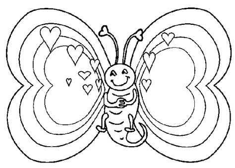 Valentijn Kleurplaten Kleurplaten Valentijnen Vlinder Tekening