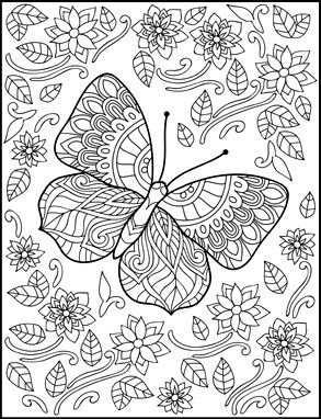 Butterflies Kleurplaten Kleuring Kleuren