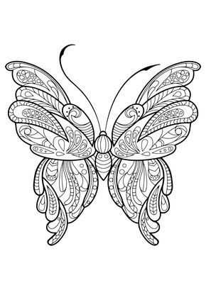 This Adult Coloring Book With Beautiful Butterfly Pictures To