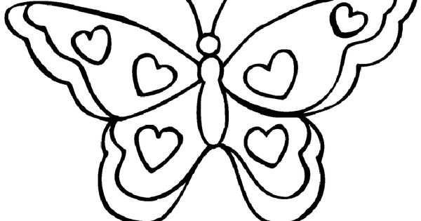 Kleurplaat Valenijn En Liefde Vlinder Met Hartjes Kleurplaten
