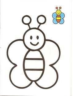 Resultado De Imagem Para Vlinder Kleurplaat Simpel Bee Coloring