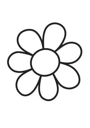 Kleurplaat Bloem Simple Flower Bloem Kleurplaten Kleurplaten
