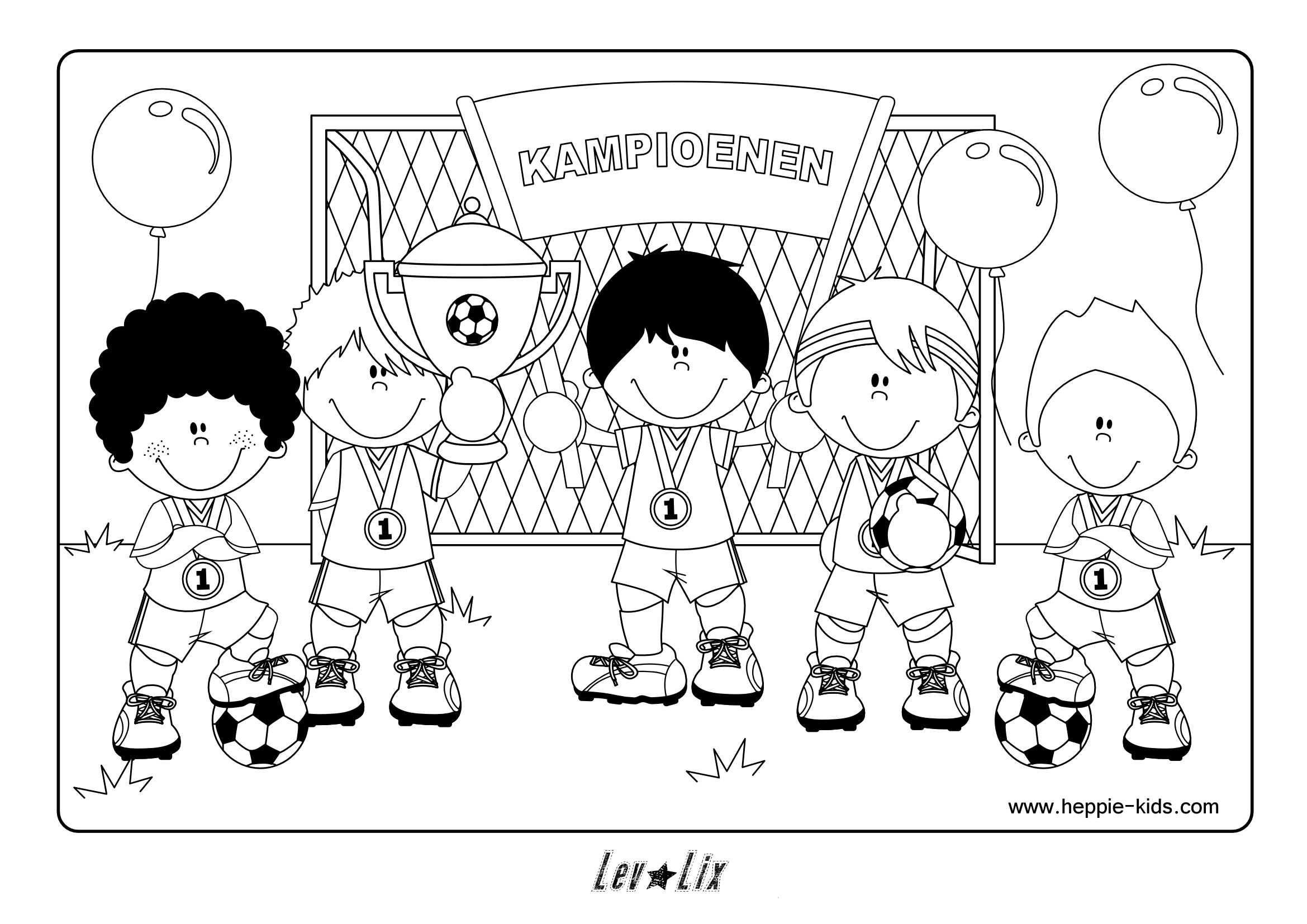 Kleurplaat Voetbal Www Heppie Kids Com Kleurplaten Voetbal Thema