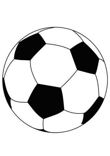 Kleurplaat Bal Voetbal Voetbal Voetbal Posters Voetbal Tekenen