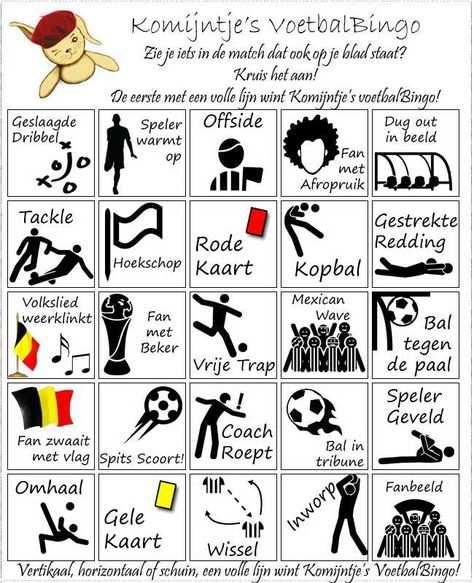 Voetbal Bingo Google Zoeken Voetbal Feestje Voetbal En Bingo