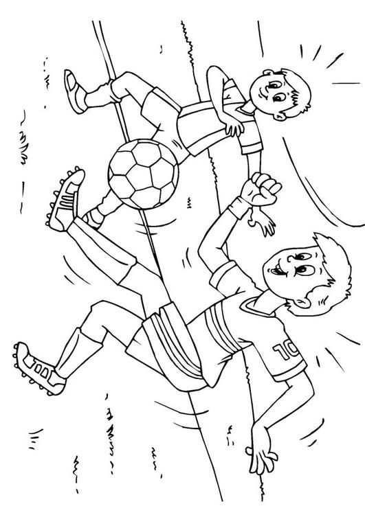 Voetbal Voetbal Gratis Kleurplaten En Kleurplaten