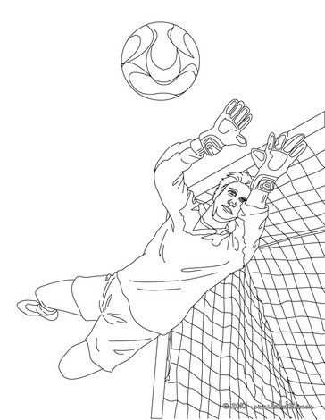 Warm Up Your Imagination And Color Nicely This Goal Keeper Jumping