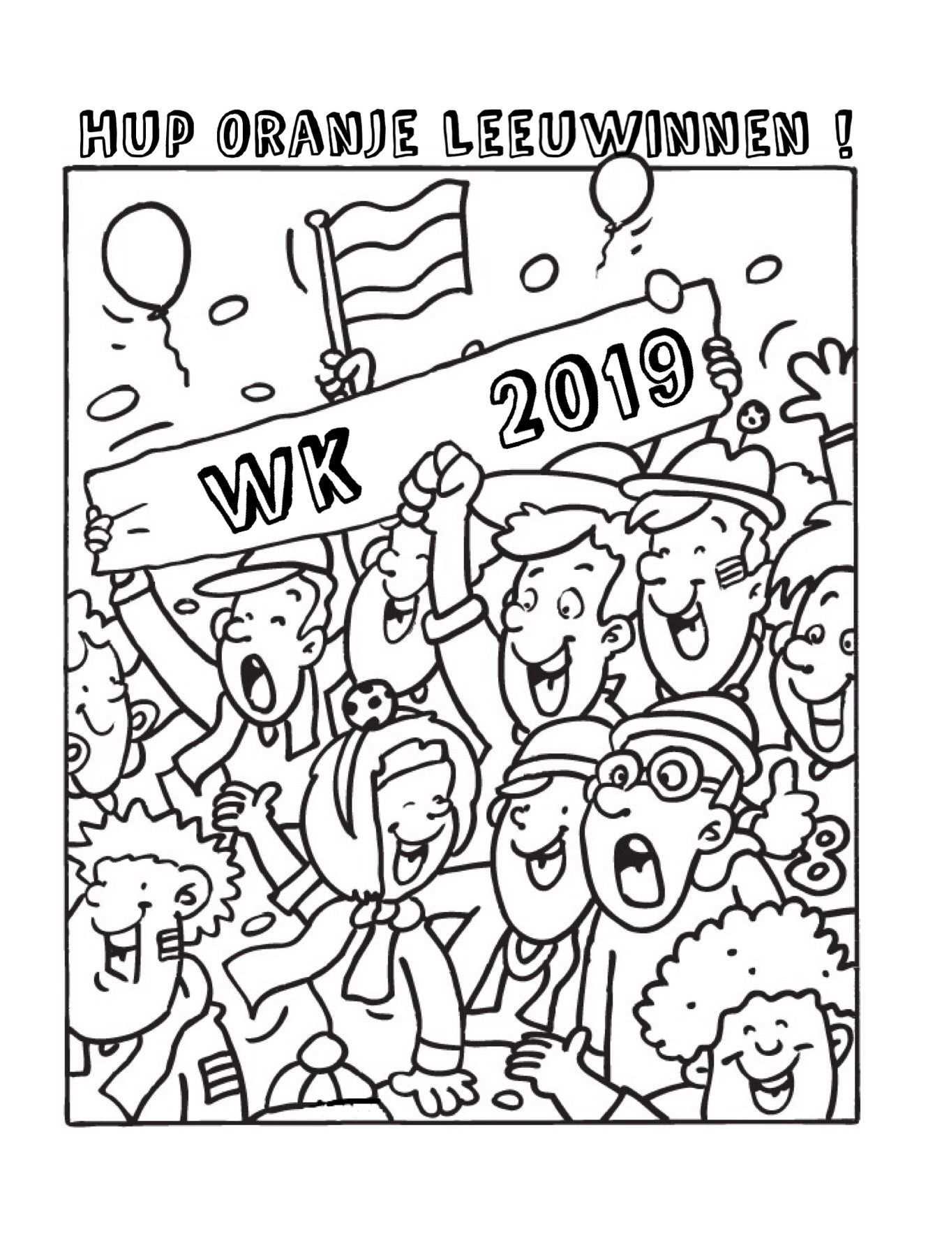Kleurplaat Oranje Leeuwinnen Wk 2019 Voetbal Vrouwen