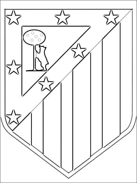 Kleurplaat Met Atletico Madrid Logo Gratis Kleurplaten