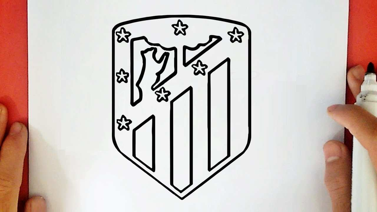 How To Draw The Atletico Madrid Logo Youtube