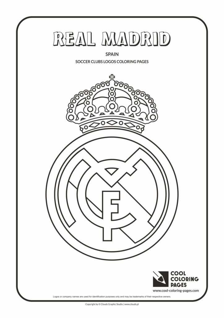 Cool Coloring Pages Others Real Madrid Logo Coloring Page