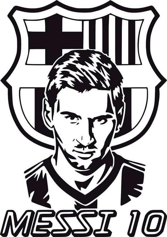 kleurplaat voetbal logo barcelona