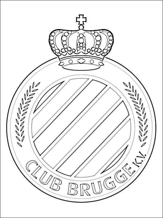 Kleurplaat Van Club Brugge Logo Gratis Kleurplaten Kleurplaten