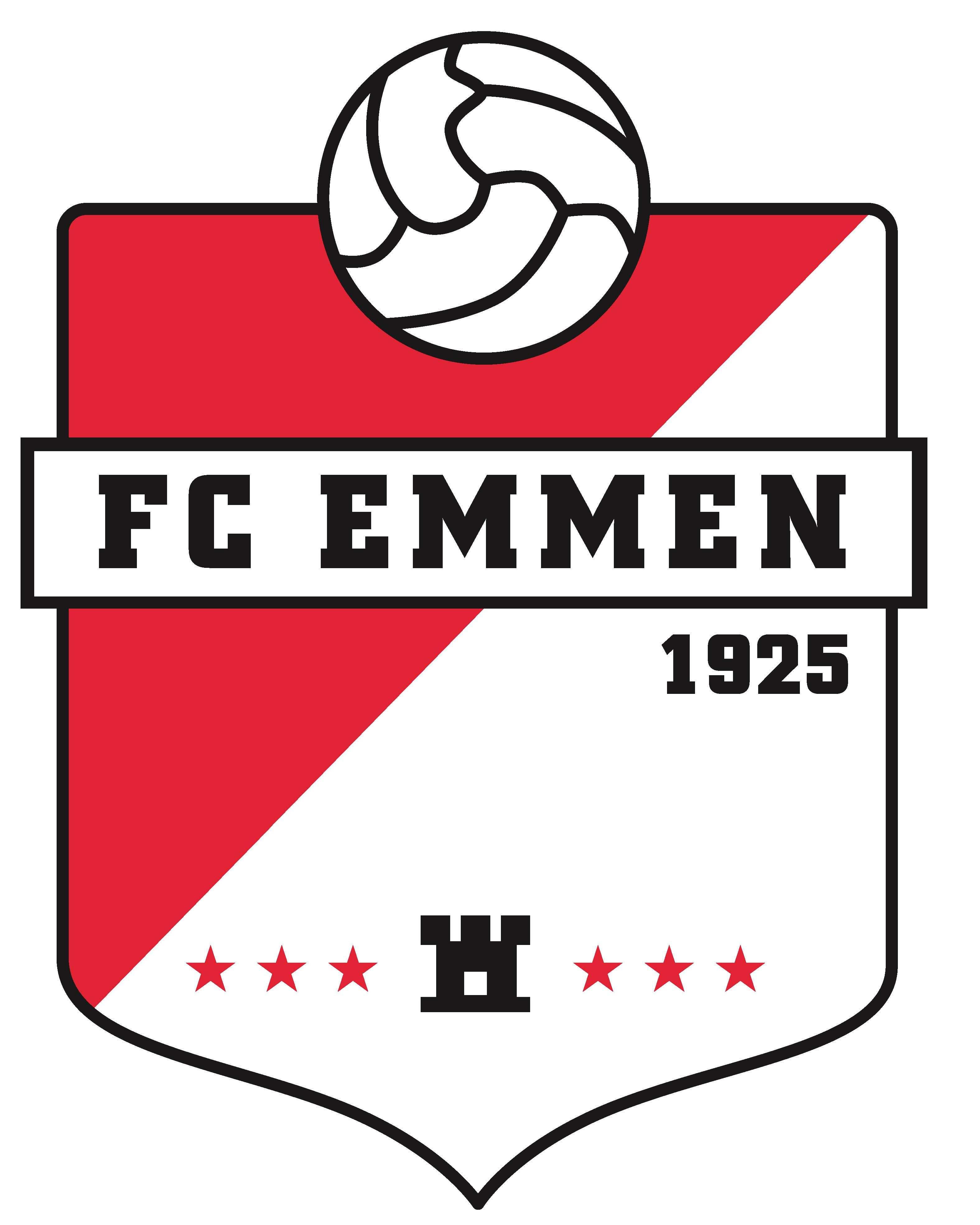 kleurplaat voetbal logo fc emmen