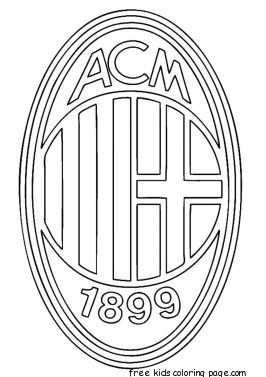 Ac Milan Logo Soccer Coloring Pages Kleurplaten Logo S Voetbal