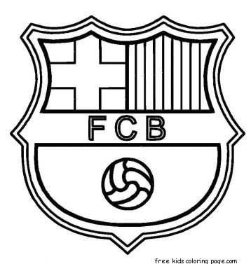Printable Barcelona Soccer Coloring Pages For Kids Kleurplaten