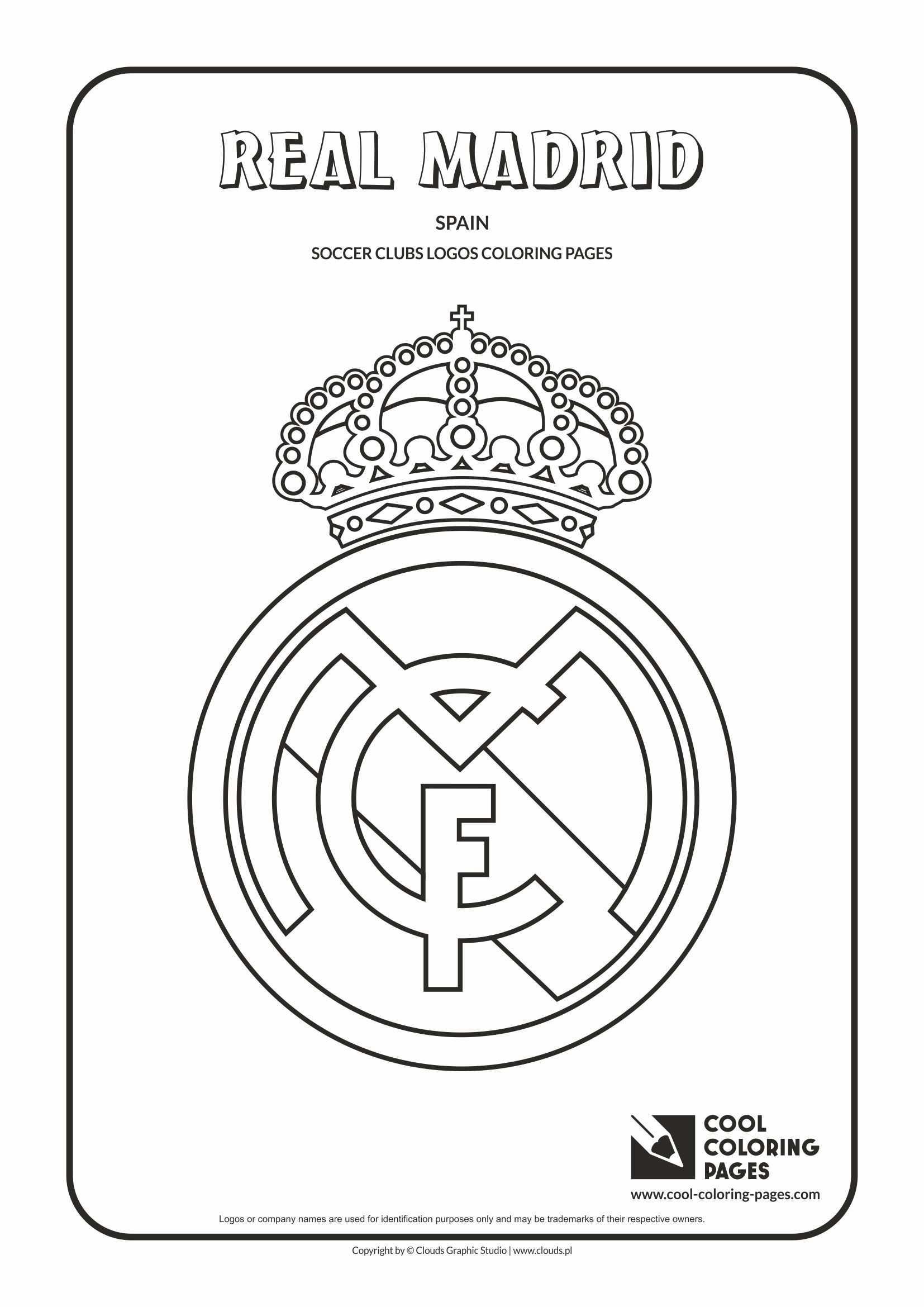 Real Madrid Logo Coloring Page Con Imagenes Logotipo Del Real