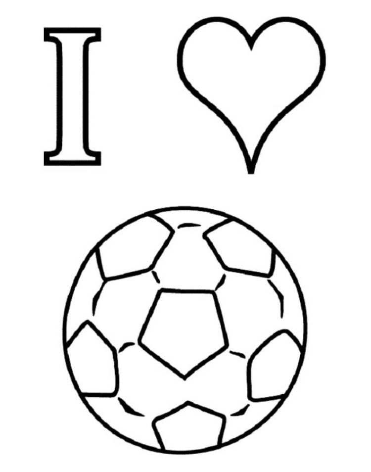 I Love Soccer Coloring Pages For Kids Coloring Pages With