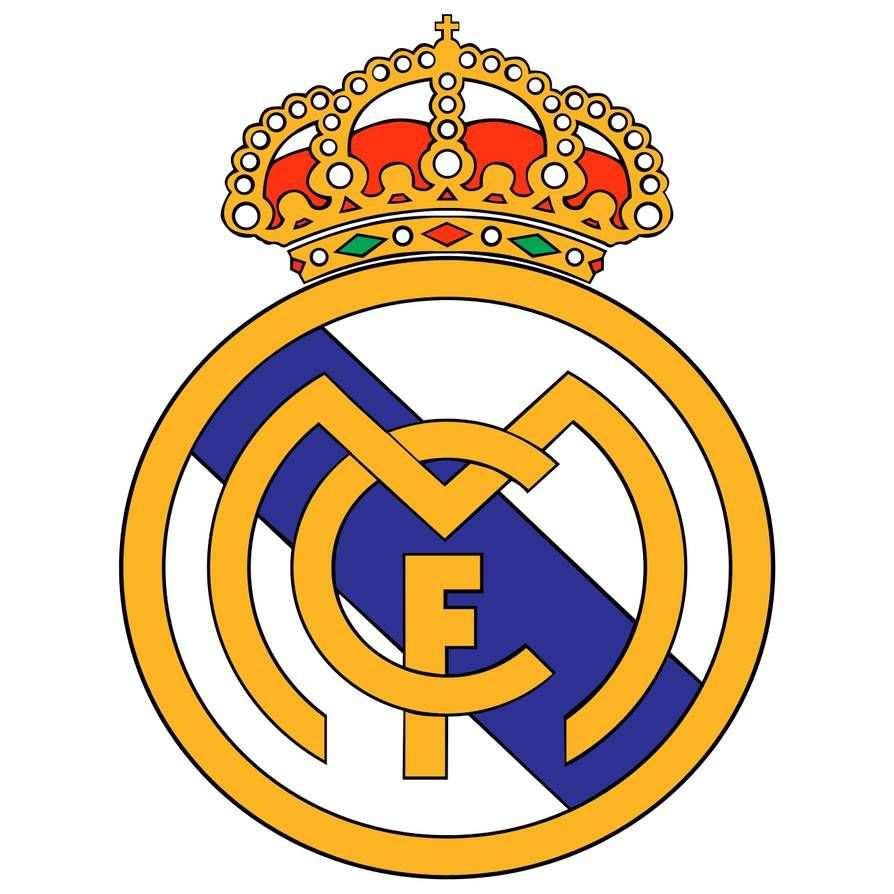 kleurplaat voetbal logo real madrid
