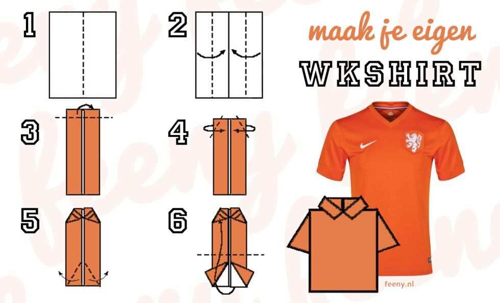 Vouw Het Voetbalshirt Van Het Nederlands Elftal Voetbalshirt T