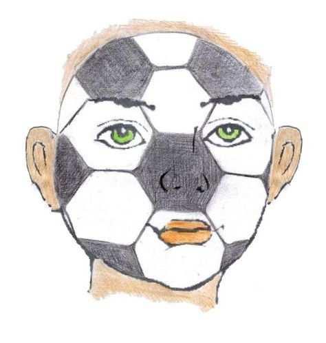 Schminken Sminken Grimeren Voetbal Voetbal Schminken Voetbal