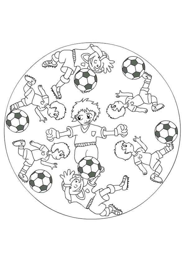 Kleurplaat Mandala Kleurplaten 5179 Voetbal Met Afbeeldingen