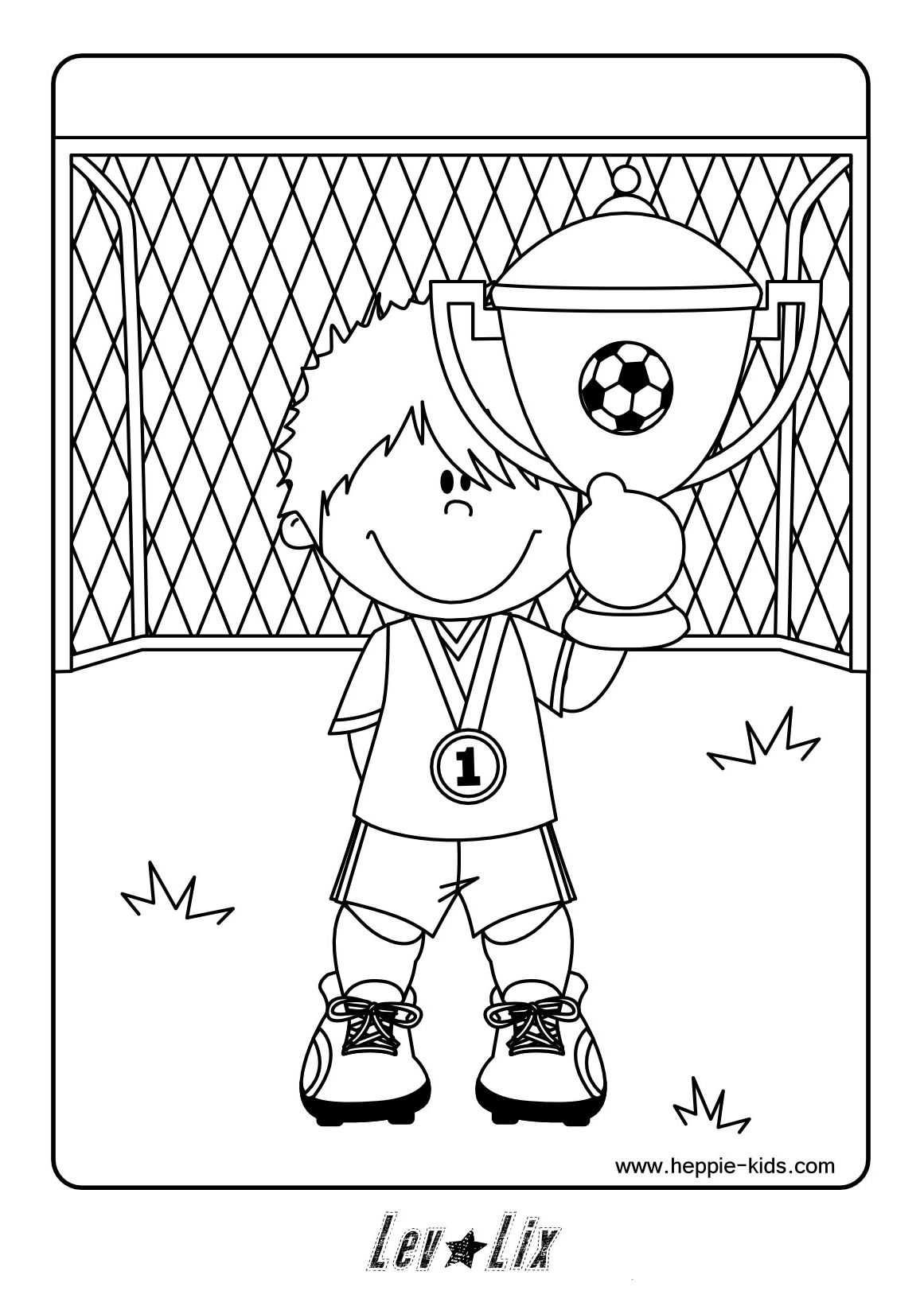 kleurplaat voetballer