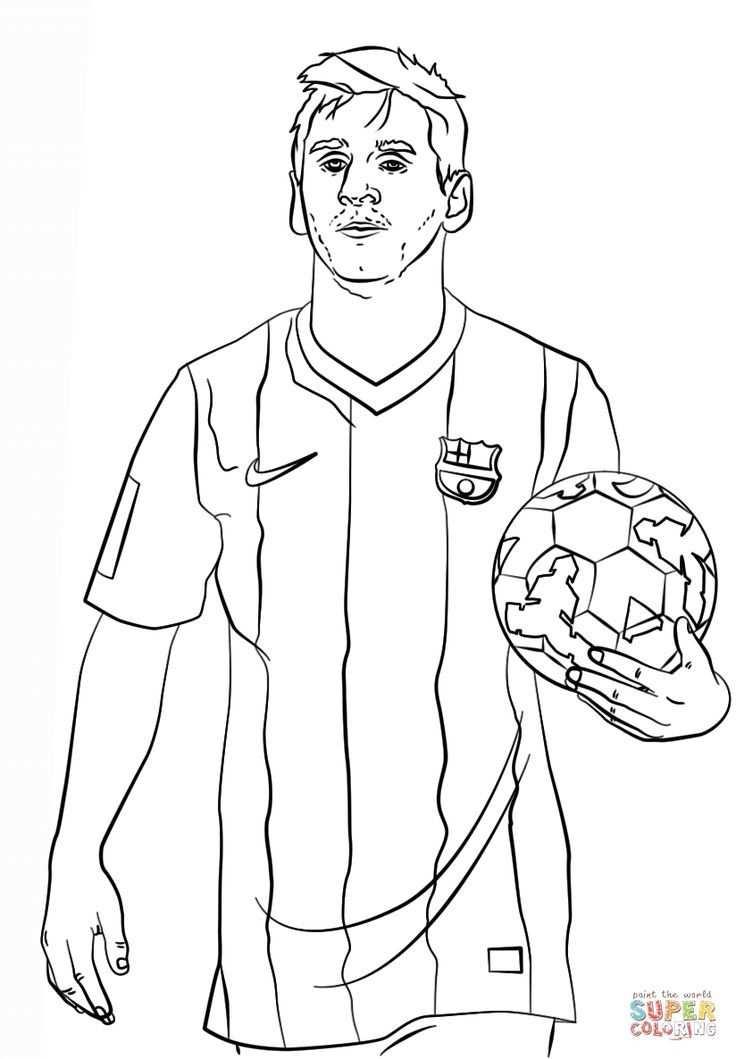 Ausmalbilder Fussballspieler Messi 1161 Malvorlage Fussball