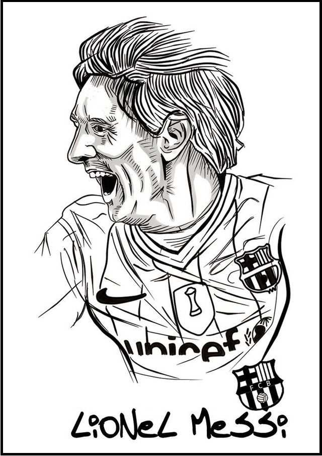Messi Soccer Football Player Coloring Pictures With Images