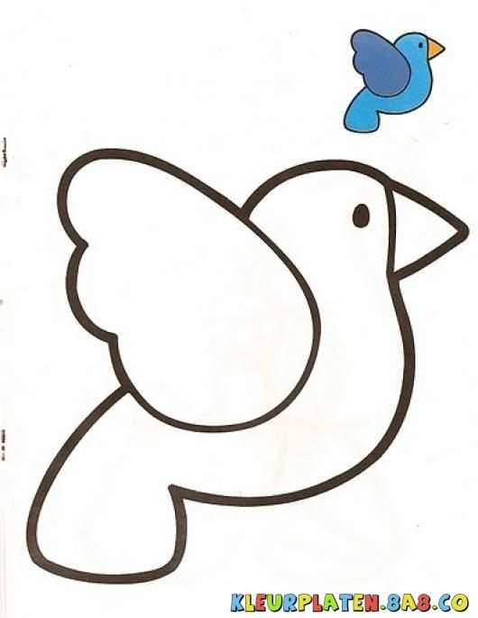 Vogel Met Monster Kleurplaten Kleurplaten Met Voorbeelden