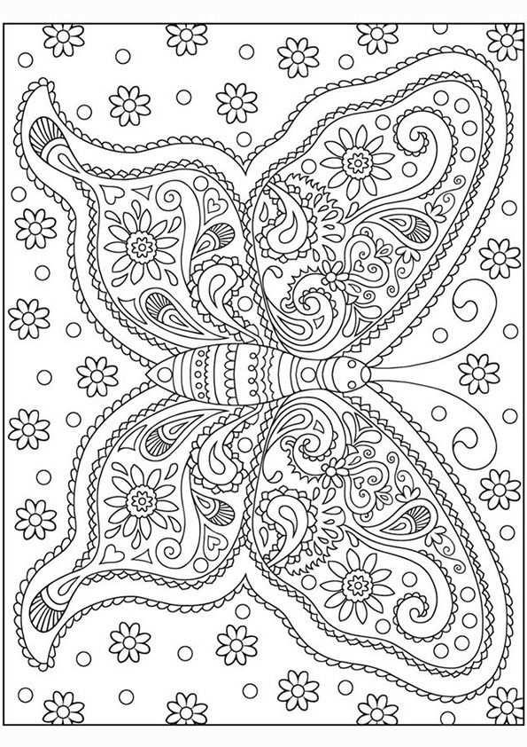 Kleurplaat Volwassenen Vlinder Coloracao Adulta Pintura Para