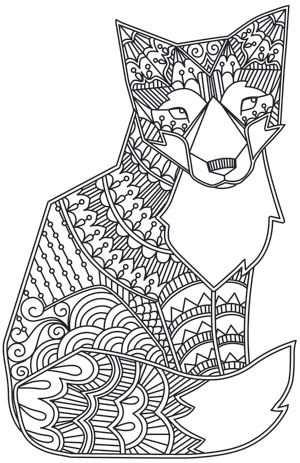 Coloriage De Renard Tres Original A Vos Crayons Met