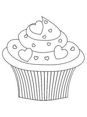 Cupcake Valentijn Kleurplaat Mit Bildern Malvorlagen Einfach