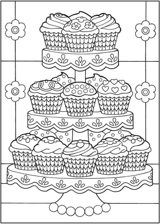 Cupcakes To Color Kleurplaten