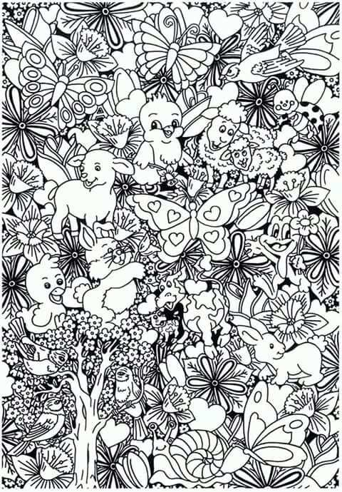 Lente Van Suzanne Amels Kleurplaten Dieren Kleurplaten Mandala