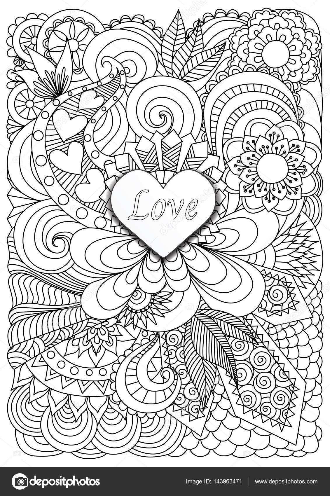 kleurplaat voor volwassenen liefde