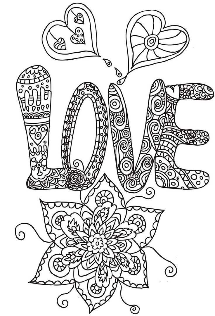 Pin Van Barbara Op Coloring Heart Love Kleurplaten Kleurplaten