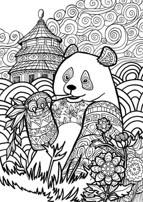 Giant Panda Page From My Animal Dreamers Coloring Book I M Working
