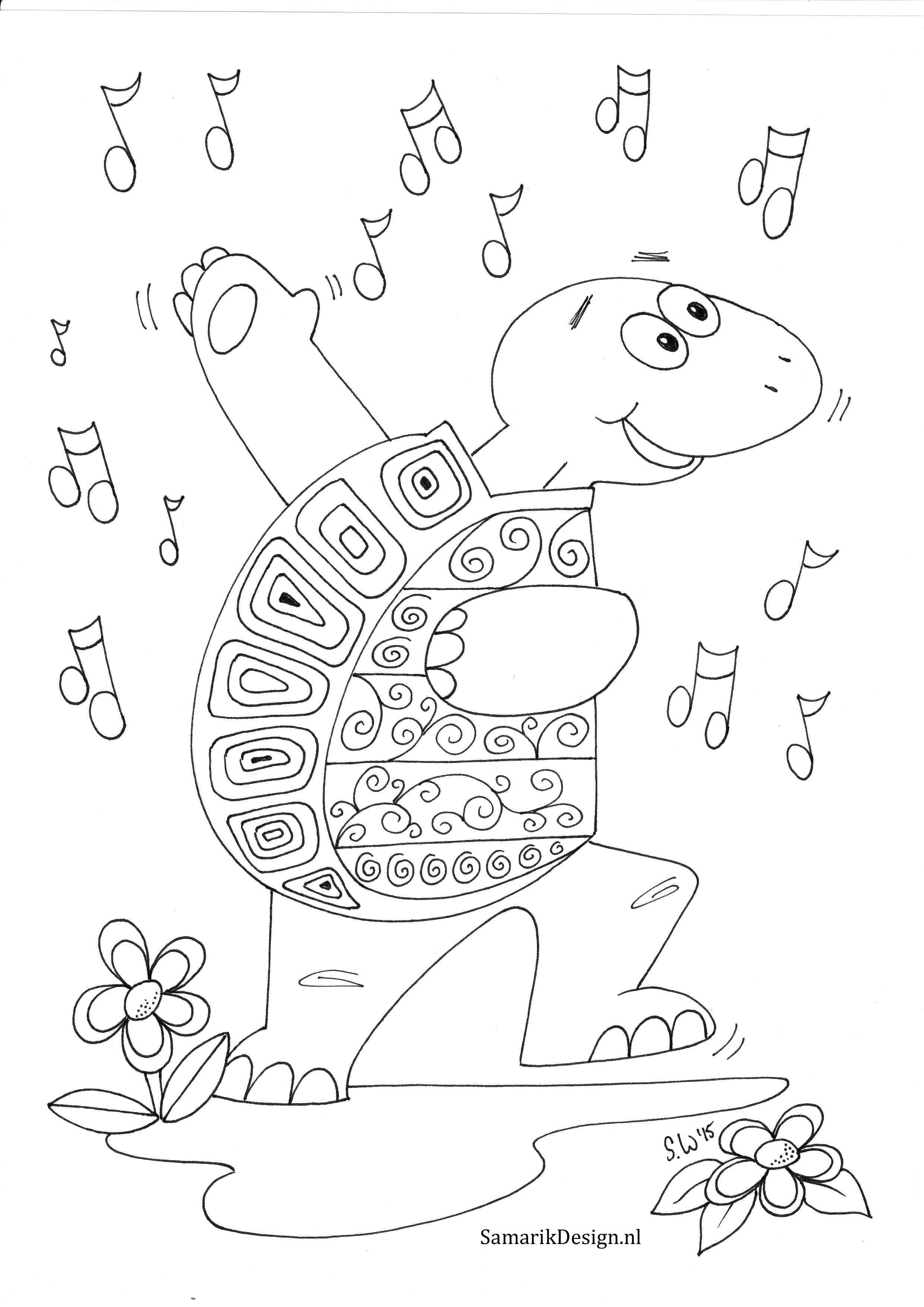Kleurplaat Voor Volwassenen Schildpad Coloring Pages Adult