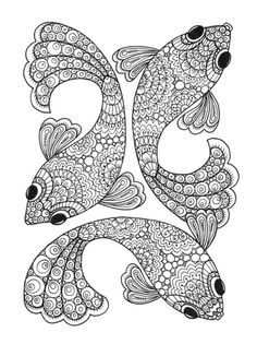 Great Adult Coloring Pic We Love These Cute Little Fish Happy
