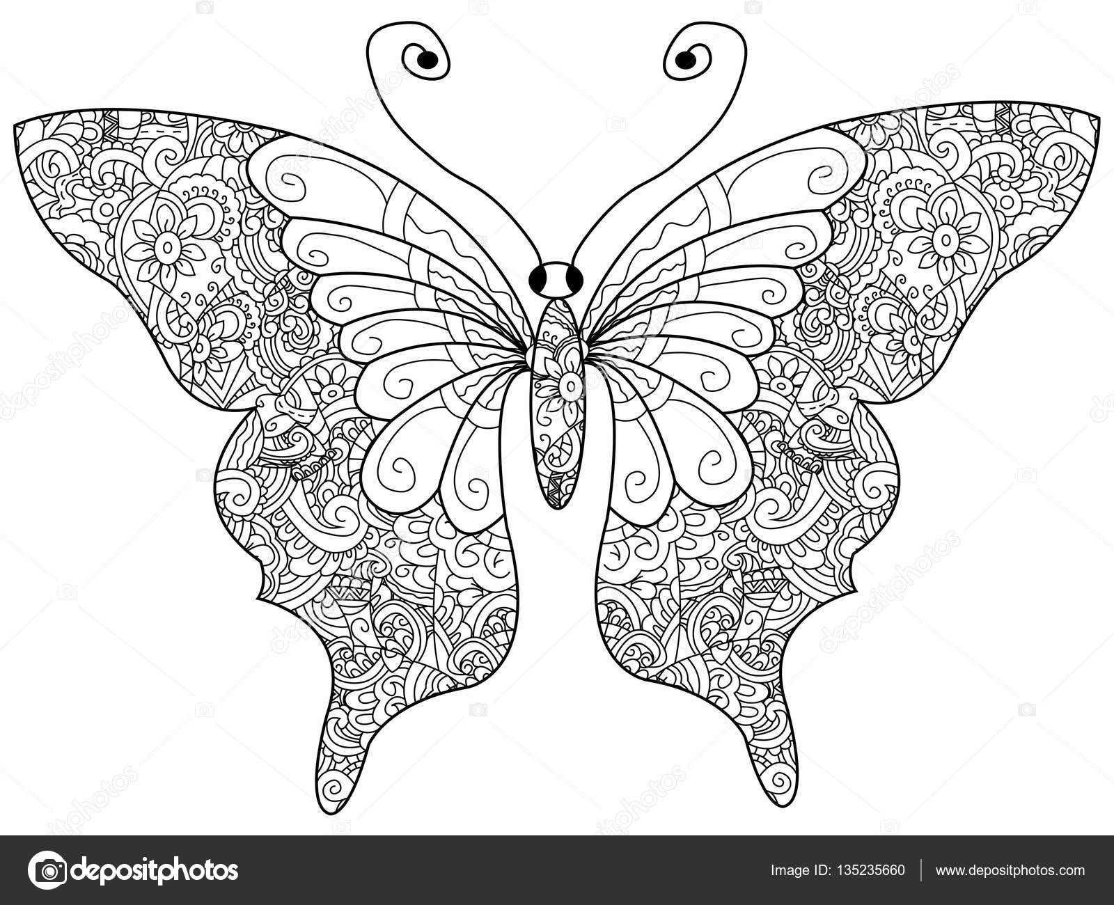 Afbeeldingsresultaat Voor Vlinder Kleurplaat Volwassenen