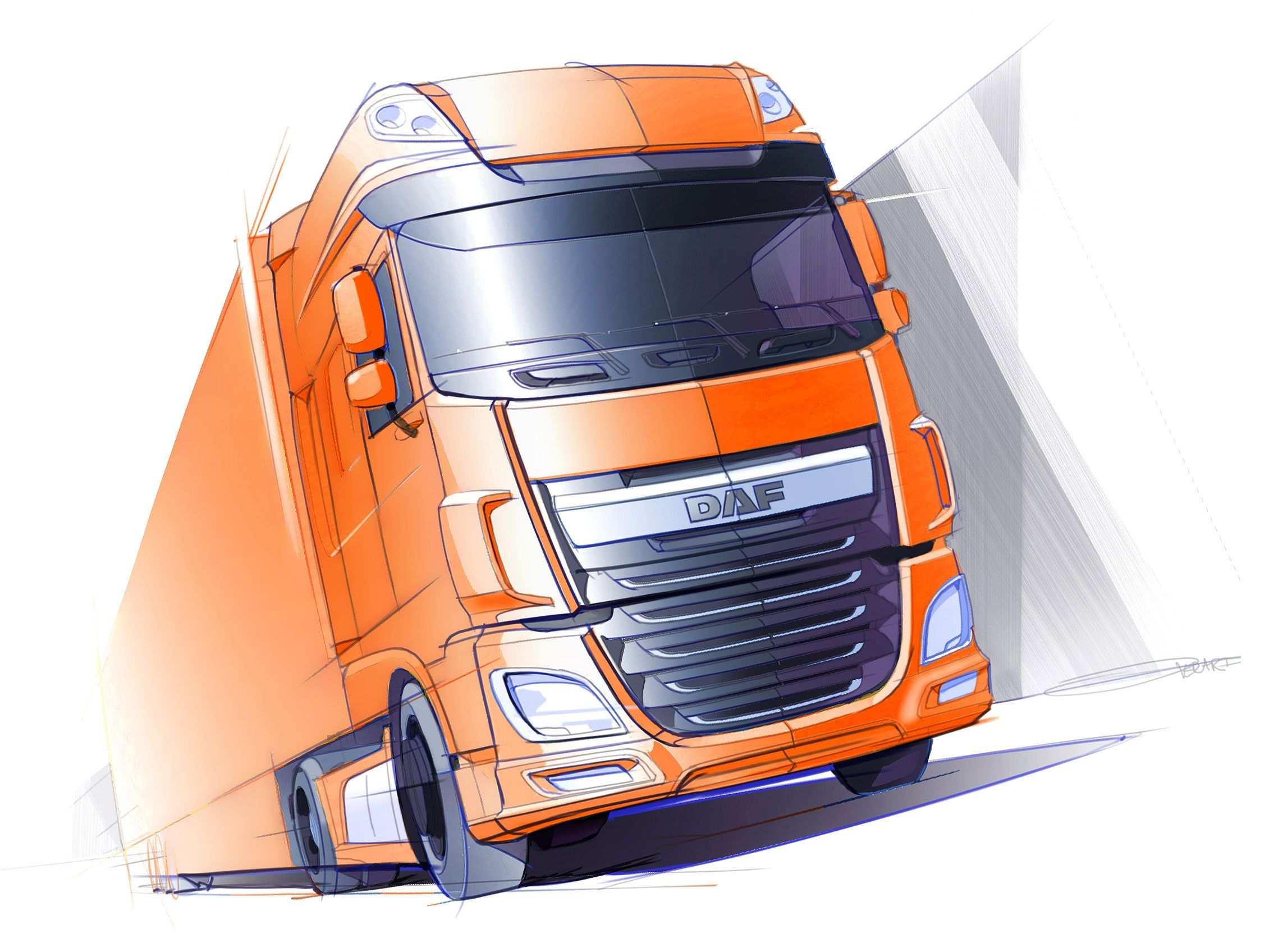 New Daf Xf Design Sketch Auto Automotivo Caminhoes