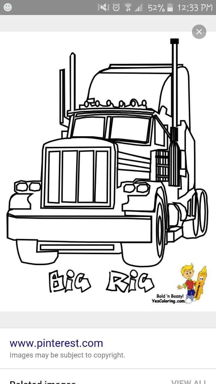 Pin Van Bea Hecker Op Vrachtwagen Kleurplaten Vervoer Voertuigen