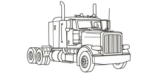 Semi Truck Coloring Pages Free Printable Holidays For April 2010