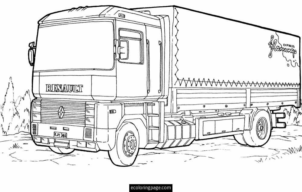 Mercedes Truck Coloring Sheets Coloring Pages Mercedes Truck