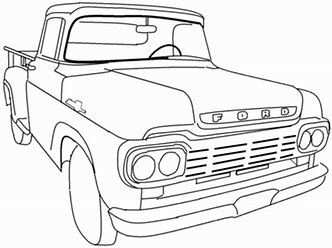 Image Result For Back Of Vintage Truck Coloring Pages With Images