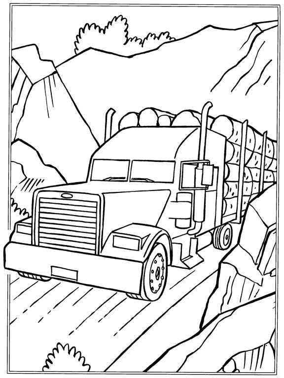 Coloring Page Trucks Kids N Fun With Images Truck Coloring