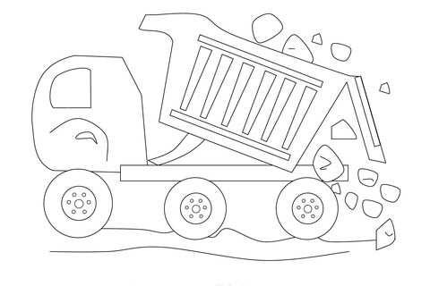 Kiepauto Met Stenen Kleurplaat Gratis Kleurplaten Printen